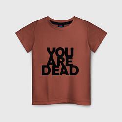 Футболка хлопковая детская DayZ: You are Dead цвета кирпичный — фото 1