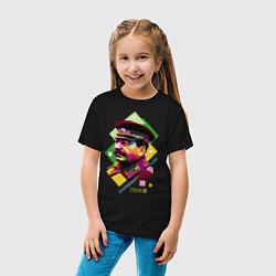 Футболка хлопковая детская Stalin Art цвета черный — фото 2