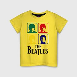 Футболка хлопковая детская The Beatles: Colors цвета желтый — фото 1