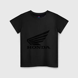 Футболка хлопковая детская Honda Motor цвета черный — фото 1