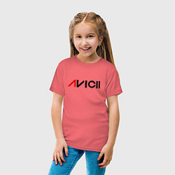 Футболка хлопковая детская Avicii цвета коралловый — фото 2