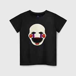 Футболка хлопковая детская Puppet FNAF Марионетка цвета черный — фото 1
