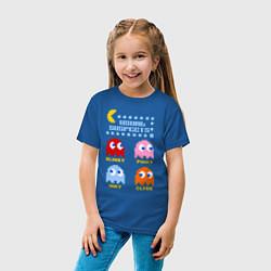 Футболка хлопковая детская Pac-Man: Usual Suspects цвета синий — фото 2
