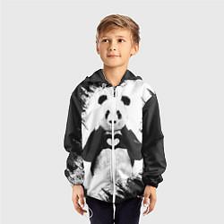 Ветровка с капюшоном детская Panda Love цвета 3D-белый — фото 2