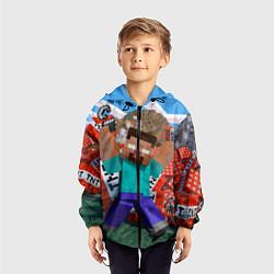 Ветровка с капюшоном детская Minecraft Man цвета 3D-черный — фото 2