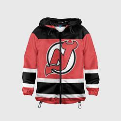Ветровка с капюшоном детская New Jersey Devils цвета 3D-черный — фото 1