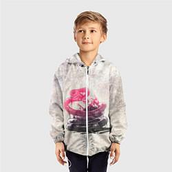 Ветровка с капюшоном детская Three Days Grace: Acid snake цвета 3D-белый — фото 2