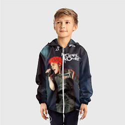 Ветровка с капюшоном детская Gerard Way цвета 3D-белый — фото 2