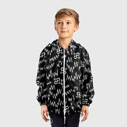 Ветровка с капюшоном детская Chemical Brothers: Pattern цвета 3D-белый — фото 2