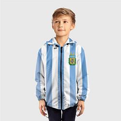 Ветровка с капюшоном детская Сборная Аргентины: ЧМ-2018 цвета 3D-черный — фото 2