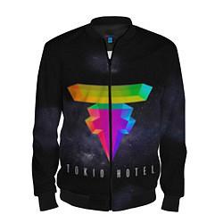 Бомбер мужской Tokio Hotel: New Symbol цвета 3D-черный — фото 1