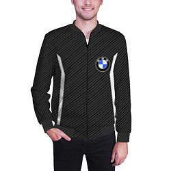 Бомбер мужской BMW Motorsport Carbon цвета 3D-черный — фото 2