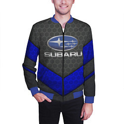 Бомбер мужской SUBARU цвета 3D-синий — фото 2