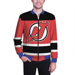 Бомбер мужской New Jersey Devils цвета 3D-синий — фото 2