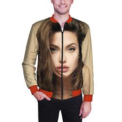 Бомбер мужской Анжелина Джоли цвета 3D-красный — фото 2