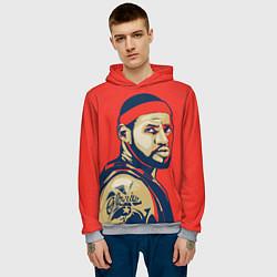 Толстовка-худи мужская LeBron James цвета 3D-меланж — фото 2