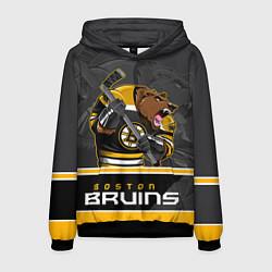 Толстовка-худи мужская Boston Bruins цвета 3D-черный — фото 1