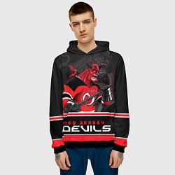 Толстовка-худи мужская New Jersey Devils цвета 3D-черный — фото 2