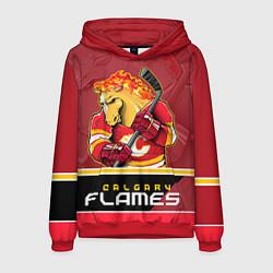 Толстовка-худи мужская Calgary Flames цвета 3D-красный — фото 1
