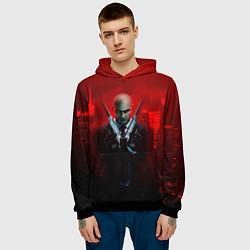 Толстовка-худи мужская Hitman: Red Blood цвета 3D-черный — фото 2