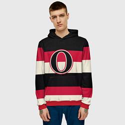 Толстовка-худи мужская Ottawa Senators O цвета 3D-красный — фото 2
