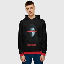 Толстовка-худи мужская Mr Robot цвета 3D-красный — фото 2