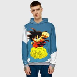Толстовка-худи мужская Small Goku цвета 3D-меланж — фото 2