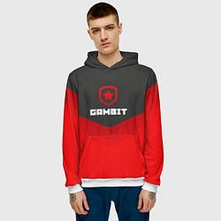 Толстовка-худи мужская Gambit Gaming Uniform цвета 3D-белый — фото 2