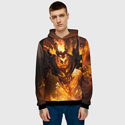 Толстовка-худи мужская Nevermore Hell цвета 3D-черный — фото 2