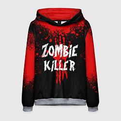 Толстовка-худи мужская Zombie Killer цвета 3D-меланж — фото 1