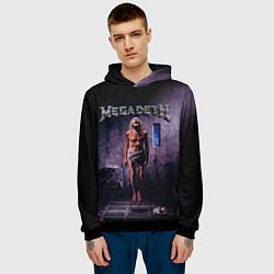 Толстовка-худи мужская Megadeth: Madness цвета 3D-черный — фото 2
