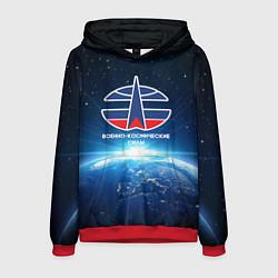 Толстовка-худи мужская Космические войска 7 цвета 3D-красный — фото 1
