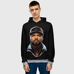 Толстовка-худи мужская Ice Cube цвета 3D-меланж — фото 2