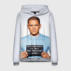 Толстовка-худи мужская Prison Break: Michael Scofield цвета 3D-меланж — фото 1