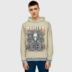 Толстовка-худи мужская Pantera: Wild Goat цвета 3D-меланж — фото 2