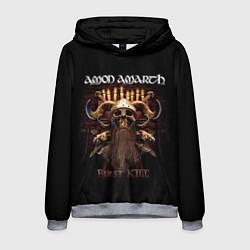 Толстовка-худи мужская Amon Amarth: First kill цвета 3D-меланж — фото 1