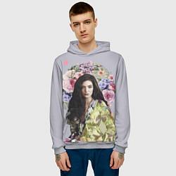 Толстовка-худи мужская Lorde Floral цвета 3D-меланж — фото 2