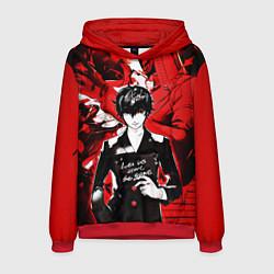 Толстовка-худи мужская Persona 5 цвета 3D-красный — фото 1