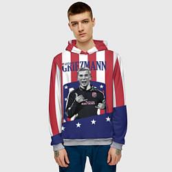 Толстовка-худи мужская Griezmann: Atletico Star цвета 3D-меланж — фото 2
