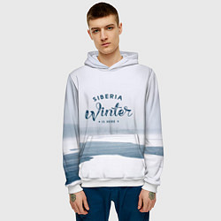 Толстовка-худи мужская Siberia Winter цвета 3D-белый — фото 2