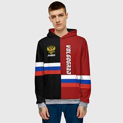 Толстовка-худи мужская Volgograd, Russia цвета 3D-меланж — фото 2