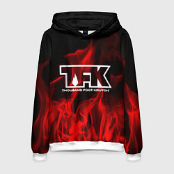 Толстовка-худи мужская Thousand Foot Krutch: Red Flame цвета 3D-белый — фото 1