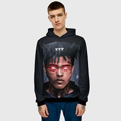 Толстовка-худи мужская XXXTentacion Demon цвета 3D-черный — фото 2