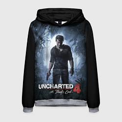 Толстовка-худи мужская Uncharted 4: A Thief's End цвета 3D-меланж — фото 1