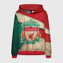 Толстовка-худи мужская FC Liverpool: Old Style цвета 3D-красный — фото 1