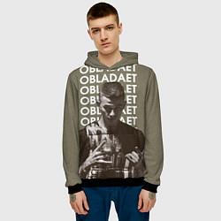 Толстовка-худи мужская OBLADAET цвета 3D-черный — фото 2