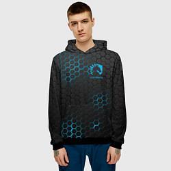 Толстовка-худи мужская Team Liquid: Carbon Style цвета 3D-черный — фото 2