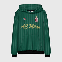 Толстовка-худи мужская AC Milan: Green Form цвета 3D-черный — фото 1