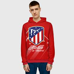 Толстовка-худи мужская ФК Атлетико Мадрид цвета 3D-красный — фото 2