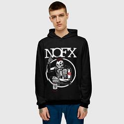 Толстовка-худи мужская NOFX цвета 3D-черный — фото 2